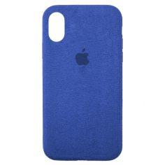 Акция на Чохол Wemacy Alcantara Case Full для iPhone Xs Max Blue   (ALCA-0040) от Allo UA