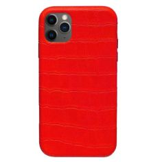 Акция на Панель Wemacy Leather Crocodile Case для iPhone 11 Pro Max Red   (CC-0030) от Allo UA