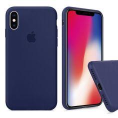 Акция на Чохол Wemacy Silicone Full case для iPhone X/Xs Midnight Blue   (AFC-0161) от Allo UA
