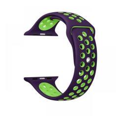 Акция на Ремінець Wemacy Nike Sport Band для Apple Watch 42mm   44mm Purple/Green   (LL-0054) от Allo UA