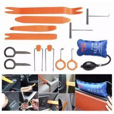 Акция на Набор из 12 съемников пистонов Super PDR , обшивки салона, панелей, магнитол + Домкрат надувной подушка от Allo UA