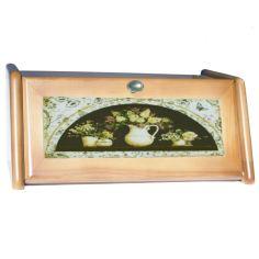 Акция на Хлебница деревянная сирень, пищевой Лак 18х40.5х27.5 см mz681920 MAZHURA от Allo UA