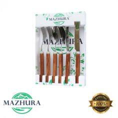 Акция на Набор 6 приборов 2 персоны Wood walnut mz505661 MAZHURA от Allo UA