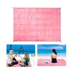 Акция на Коврик-подстилка для пикника или моря анти-песок Sand Free Mat 200x200 мм Розовый от Allo UA