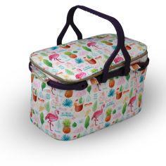 Акция на Термо-сумка для пикника разноцветная белая 25л 61х50х36 Kale Фламинго mz1072 MAZHURA от Allo UA