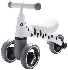 Акция на Детский трёхколёсный беговел POPPET Зебра Бэлли Бело-чёрный (PP-1602W) от Rozetka