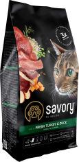Акция на Сухой корм для кошек Savory со свежим мясом индейки и уткой 2 кг (4820232630051) от Rozetka