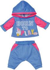 Акция на Набор одежды для куклы Baby Born Спортивный костюм для бега Голубой (830109-2) от Rozetka