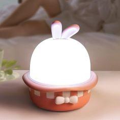 Акция на Проектор-ночник Волшебный кролик звездное небо Розовый от Allo UA