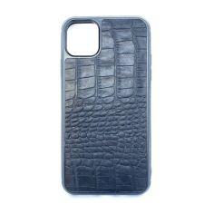 Акция на Чехол CaZe для iPhone 11 Pro Max с тиснением под крокодила Crazy Horse Black от Allo UA