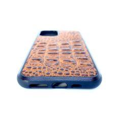 Акция на Чехол CaZe для iPhone 11 Pro Max с тиснением под крокодила Премиум коричневый от Allo UA