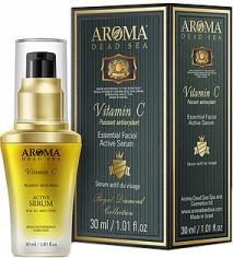 Акция на Сыворотка для лица Aroma Dead Sea Активная против старения с витамином С 30 мл (7290006794895) от Rozetka