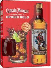 Акция на Ромовый напиток Captain Morgan Spiced Gold 0.7 л 35% + кружка (BDA1RM-RCM070-019) от Stylus