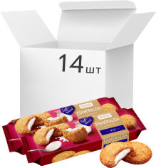 Акция на Упаковка печенья Roshen Lovita Soft Cream Cookies milk 170 г х 14 шт (4823077633379) от Rozetka