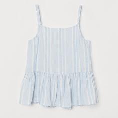 Акция на Майка H&M 1804-8659892 140 см Бело-голубой полоска (hm05443697420) от Rozetka