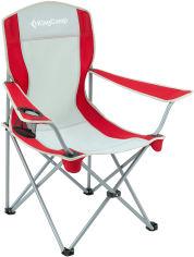 Акция на Раскладной стул KingCamp Arms Chairin Steel Grey/Red (KC3818 grey/red) от Rozetka