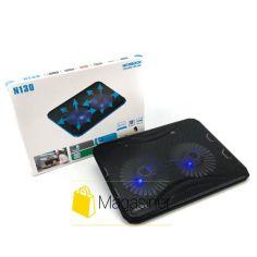 Акция на Охлаждающая подставка для ноутбука N130 регулируемая с подсветкой и вентилятором usb (1216-tg) от Allo UA