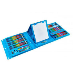 Акция на Набор для рисования с мольбертом детский Чемодан творчества 208 предметов Синий от Allo UA