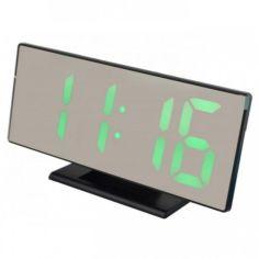 Акция на Часы настольные LED 3618L с зеленой подсветкой, будильник Черные от Allo UA