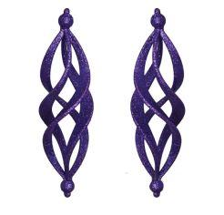 Акция на Набор подвесок Сосулька фигурная фиолетовая YES! Fun 972018 от Podushka