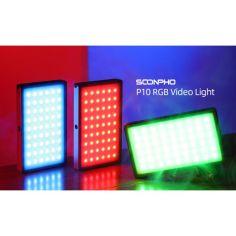 Акция на Накамерный LED осветитель Soonpho P10 RBG с аккумулятором 4000 mAh, зеленый от Allo UA