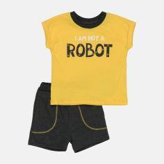 Акция на Комплект (футболка + шорты) Бемби KP248-5Y0 86 см Желтый/Черный (4823109635104) от Rozetka