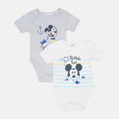 Акция на Боди-футболка Disney Mickey UE0316 81 см 2 шт Белый/Голубой (3609084998530) от Rozetka
