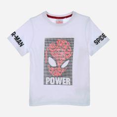 Акция на Футболка Disney Spiderman UE1052 98 см Белая (3609084857844) от Rozetka