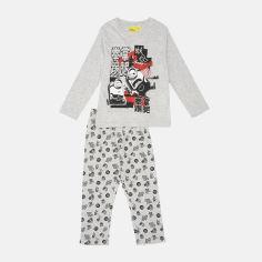 Акция на Пижама (футболка с длинными рукавами + штаны) Disney Minions2 HU2041 116 см Светло-серая (3609085026133) от Rozetka