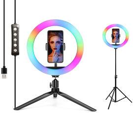 Акция на Набор блогера 2в1 XOKO BS-610 (стойка 160 см с RGB LED-лампой 26 см, штатив 19 см настольный) от Rozetka