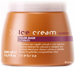 Акция на Маска Inebrya Color Mask Tutti Frutti для окрашенных и мелированных волос 500 мл (8033219160809) от Rozetka