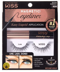 Акция на Набор Kiss Lure Magnetic Eyeliner Kit Магнитные накладные ресницы + Подводка 5 г (731509803648) от Rozetka