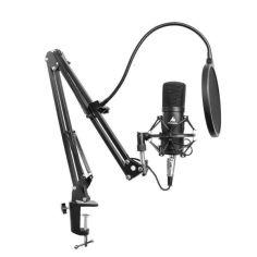 Акция на Микрофон конденсаторный Maono AU-A03 Черный со стойкой и поп-фильтром + ветрозащита и паук от Allo UA