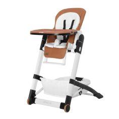 Акция на Стульчик для кормления CARRELLO Apricus CRL-14201 Pale Terracota с колесами и корзиной для игрушек + съемная столешница с подстаканником от Allo UA