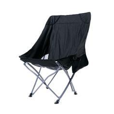 Акция на Раскладной стул Lesko S4570 Black для кемпинга пикника рыбалки от Allo UA