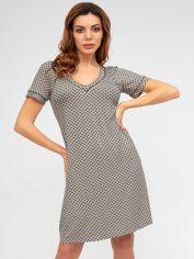 Акция на Ночная рубашка Roksana 1196-60013 XL Кофейная (4821196600135) от Rozetka