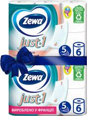 Акция на Туалетная бумага Zewa Just 1 белая 5 слоев 6 рулонов + 6 рулонов (7322541189314) от Rozetka