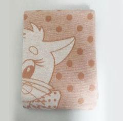 Акция на Детское хлопковое одеяло-плед Ярослав персиковое котик 100х140 см от Podushka