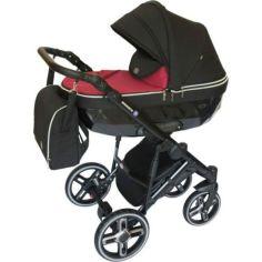 Акция на Коляска детская универсальная 2 в 1 Broco Monaco Pink с дождевиком, москитной сеткой и сумкой + 2 чехла на ножки от Allo UA
