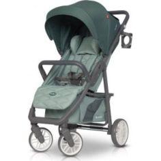 Акция на Коляска детская прогулочная Euro-Cart FLEX + подстаканником + дождевик Зеленый от Allo UA