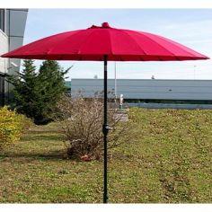 Акция на Зонт Кафе антиветер наклонный Stenson MH-3840 2.7м 18 спиц красный от Allo UA