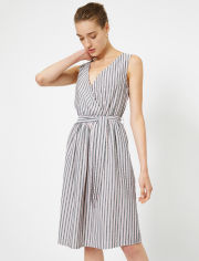Акция на Платье Koton 0YAK88035PW-03M 40 Red Stripe (8682262035246) от Rozetka
