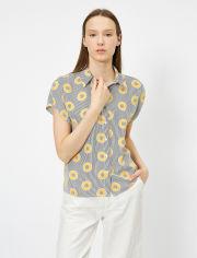 Акция на Рубашка Koton 0YAK68113PW-40A 34 Mustard Design (8682263493076) от Rozetka