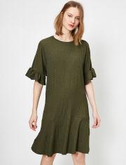 Акция на Платье Koton 0YAK83271EK-801 L Khaki (8682360024340) от Rozetka