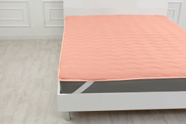 Акция на Наматрасник MirSon №1759 Eco Light Coral Cotton на резинке по углам 120x190 см (2200003711639) от Rozetka