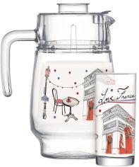Акция на Набор для напитков Luminarc Love France Red 7 предметов (Q5670) от Rozetka