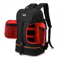 """Акция на Фоторюкзак универсальный + 15,6"""" отдел для ноутбука, черный с красным ( IBF028BR ) от Allo UA"""