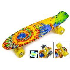 """Акция на Скейтборд Penny Board """"Sunflowers"""" Светящиеся колеса от Allo UA"""