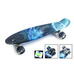 """Акция на Скейтборд Penny Board """"Galaxy"""" Светящиеся колеса. от Allo UA"""