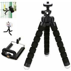 Акция на Штатив держатель тренога для фотоаппарата видеокамеры с креплением для телефона осьминог (98675453) Черный от Allo UA